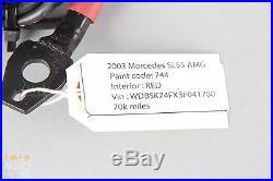 03-06 Mercedes R230 SL500 SL55 AMG Front Left or Right Seat Belt Buckle Red OEM
