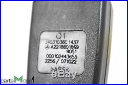 07-13 Mercedes W221 S550 W216 CL550 Front Right Passenger Seat Belt Buckle Black