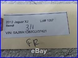 10-15 Jaguar XJ Front Right Passenger Side Seat Belt Buckle OEM