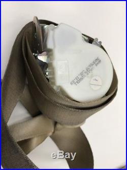 10 Jaguar Xf Premium Driver Left Front Seat Belt Buckle Tan Oem Retractor