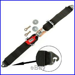 11244 Crow 3 Seat Belt. 50 Length With Latch Link Buckle. Eye Bolt Mount