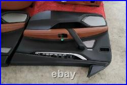 14-17 Maserati Ghibli Front Left & Right Complete Seat Cushion Assembly Brown