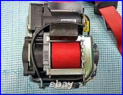14-19 OEM MERCEDES C W205 FRONT DRIVER LEFT SIDE SEAT BELT RETRACTOR red