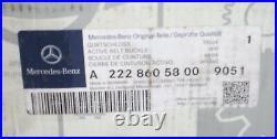15 17 Mercedes S550 S63 Seat Belt Buckle Receptacle, 2228600269, 2228605800, Oem