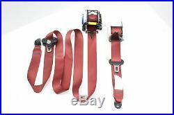 18 2018 Subaru Wrx Sti Type Ra Front And Rear Red Seat Belt Buckle Set