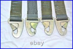 1958-1965 Porsche 356 or 911 Original Teka Seat Belts Chrome buckles Aluminum