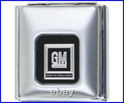 1964-75 GM Buckle Black Seat Belt Retractable Lap Shoulder Harness Set, Bench