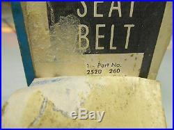 1966 Black Rear Seat Belt Pkg or 3rd Passenger Front Seat Mopar NOS PN# 2520260