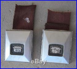 1966 Cadillac Eldorado Seatbelt Seat Belt Buckle Pair Chrome RCF-65 Used Orig 66
