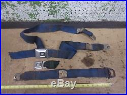 1967-1970 Gm Seat Belt Buckle Blue Retractor Chevy Buick Pontiac Olds Irvin K
