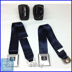1968-72 GM A Body Deluxe Front Seat Belt Retractor Set With Chrome Buckle Set