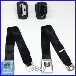 1968-72 GM Cars Deluxe Front Seat Belt Retractor Set With Chrome Buckle Set