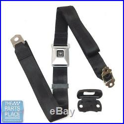 1968-72 GM Cars Shoulder Harness With Stainless Buckle Black Webbing Seat Belt
