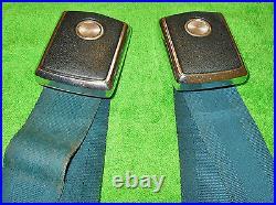 1969 Mustang Grande GT Boss Cougar Xr7 ORIG BLUE DELUXE FRONT BUCKLE SEAT BELTS