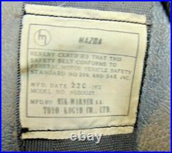 1971 72 Mazda RX 2 Seat Belt Buckles Receivers Shoulder Belts-Nice Set -S3
