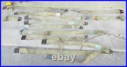 1971 Cadillac Tan Seat Belt Set Lot of 13 Pcs Buckles Lap Shoulder Orig 70 71 72
