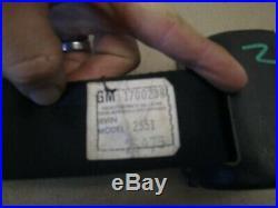 1975 1976 77 Trans Am Firebird Nova Black Male Seat Belt Buckle Rear Retractor