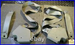 1984-87 Corvette C4 Seat Belt & Buckle Complete Assemblies L&R Medium Gray