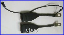 1985 BMW 535i E28 Front Seat Belt Buckle Receiver Pr(2) Autoflug Used Orig 85