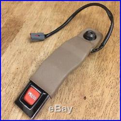 1995-1997 Ford Explorer LF (Front Driver Side) TAN Seat Belt Buckle Receiver OEM