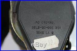 1998-2001 BMW E38 740i REAR SEAT BELT RETRACTOR & BELT BUCKLE ASSEMBLY N1322