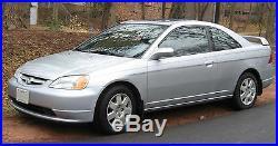 2001-2005 honda civic 2dr coupe front left driver seatbelt seat belt buckle