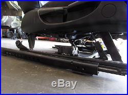 2005 BMW 325i E46 Sedan Front Right Side Black Leather Seat / Seat Belt Buckle