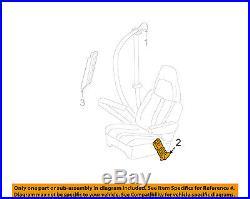 2006-2014 EXPRESS VAN PASSENGER SEAT BELT BUCKLE GRAY NEW GM # 19181642