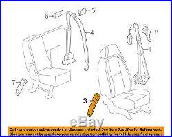 2007-2013 Silverado Sierra Tahoe Yukon Drivers Seat Belt Buckle Tan # 19121538
