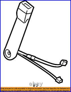 2007-2013 Silverado Sierra Tahoe Gray Passenger Front Seat Belt Buckle 19121543