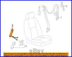 2007-2013 Silverado Sierra Tahoe Passenger Seat Belt Buckle Black Gm # 19121541