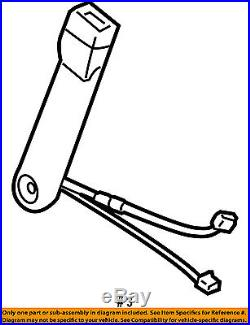 2007-2013 Silverado Sierra Tahoe Yukon Drivers Seat Belt Buckle Gray # 19121539