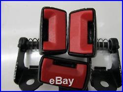 2008-2010 BMW 535xi 528 E60 OEM REAR SEAT BELT/ SEAT BELT BUCKLE SET BLACK COLOR