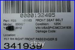 2010 2017 Bmw 550i Gt Oem F07 Rh Right Front Passenger Seat Belt Buckle