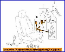 2010-2017 Chevy Equinox Terrain OEM Front Left Seat Belt Buckle GM 19256046