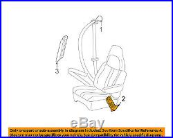 2011-2014 Express Van Savanna Tan Drivers Seat Belt Buckle New Gm # 19181643