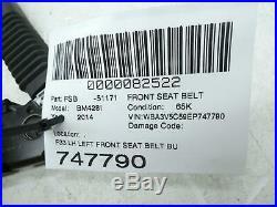2014 2015 2016 Bmw 428i F33 Lh Left Front Seat Belt Buckle