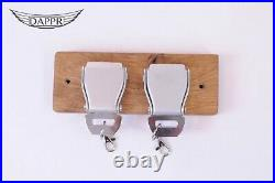 2 Belt Buckle Key Rack Straight Oak- Storage Aviation Seat Belts