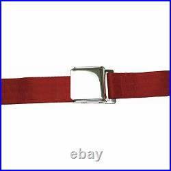 2 Point Retractable Airplane Buckle Burgundy Seat Belt (1 Belt) 427 model a