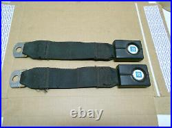 2 Real 1969 Corvette Org Female Latch Seat Belts 1st Design Plastic Buckles Ncrs