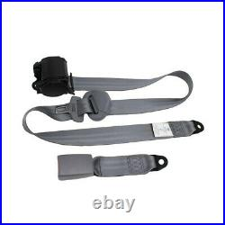 2 Sets Car Front Seat Belt Buckle Kit Automatic Retractable Safety Straps Gray