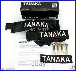 2 X Tanaka Universal Black 4 Point Ez Release Buckle Racing Seat Belt Harness