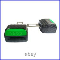 2x Green Car Safety Seat Belt Buckle Extension Alarm Extender luminous at night