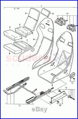 2x Porsche 911 996 GT2 GT3 fastening seat belt buckle Recaro bucket 99652192790