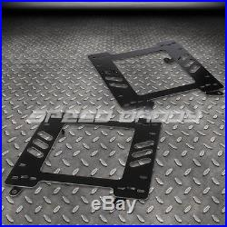 2x Pvc Leather Racing Seat+4-point Red Buckle Belt+bracket For Camaro/trans Am