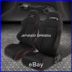 2x Type-r Black Racing Seat+4-point Black Buckle Belt+bracket For 92-99 Bmw E36