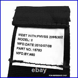 3Pt Black Retractable Seat Belt Standard Buckle Each STBSB3RSBK rat seatbelt