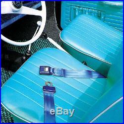 3Pt Black Retractable Seat Belt With Mount Brackets Standard Buckle v8 seatbelt