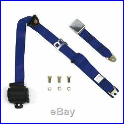 3Pt Dark Blue Retractable Seat Belt Airplane Buckle Each hot rods rat rods