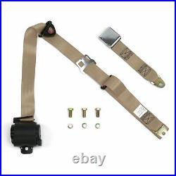 3Pt Tan Retractable Seat Belt Airplane Buckle Each